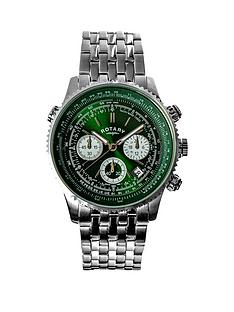 rotary-rotary-green-and-silver-detail-chronograph-dial-stainless-steel-bracelet-mens-watch