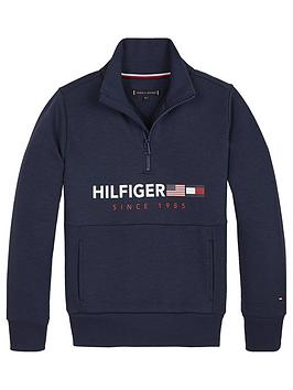 tommy-hilfiger-boys-half-zip-flag-sweatshirt-navy