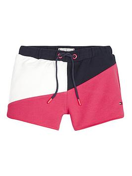 Tommy Hilfiger Tommy Hilfiger Girls Colour Block Jersey Shorts - Navy/Pink Picture