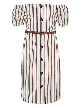 river-island-girls-stripe-bardot-dress-white