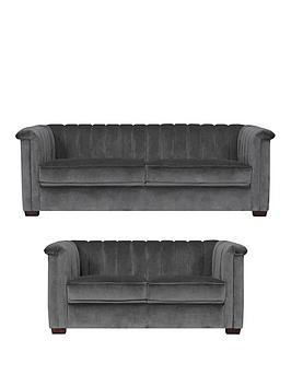 Michelle Keegan Home Michelle Keegan Home Hepburn Fabric 3 Seater + 2  ... Picture