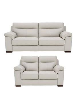 Spire Real Leather/Faux Leather 3 Seater + 2 Seater Sofa Set (Buy and SAVE!)