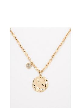 v-by-very-disc-chain-necklace-gold