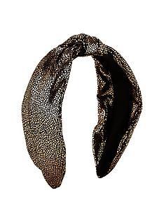 michelle-keegan-metallic-knot-headband-gold