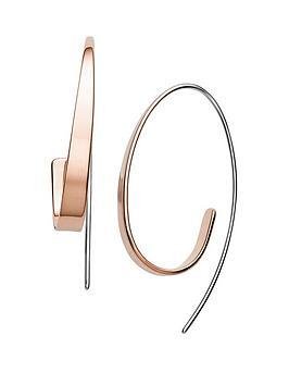 skagen-skagen-kariana-rose-gold-mirror-finish-ladies-hoop-earrings