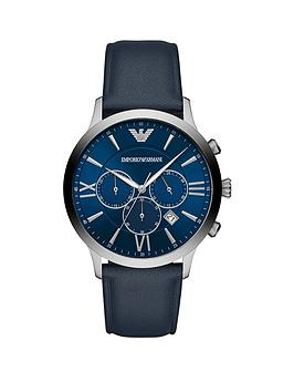 Emporio Armani Emporio Armani Emporio Armani Giovanni Blue And Silver  ... Picture