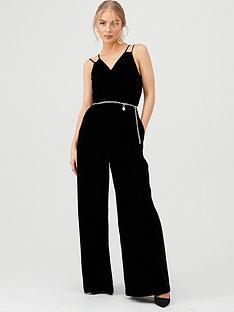 ted-baker-nellieh-wide-leg-velvet-jumpsuit-black