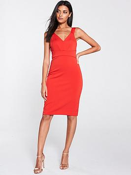 ted-baker-trixxie-panelled-bodycon-dress-red