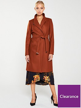 ted-baker-ellgenc-d-ring-wrap-coat-brown
