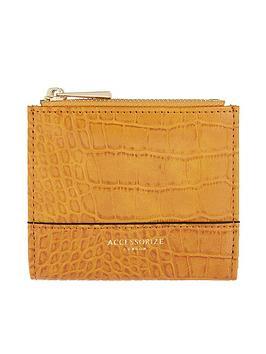 accessorize-croc-bella-wallet-ochre