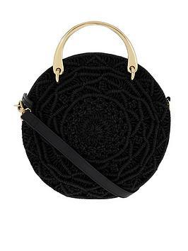 accessorize-jenna-macramenbspcross-body-bag-black