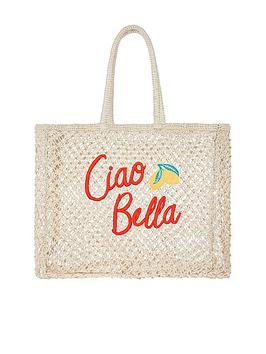 accessorize-ciao-bella-crochet-tote-natural