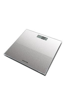 Salter Salter Silver Glitter Electronic Personal Bathroom Scale Picture