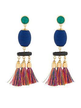 accessorize-eliza-tassel-earrings-multi