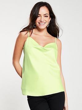 river-island-cowl-neck-cami--lime