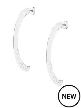 ted-baker-iclipsa-logo-half-hoop-earrings-silver