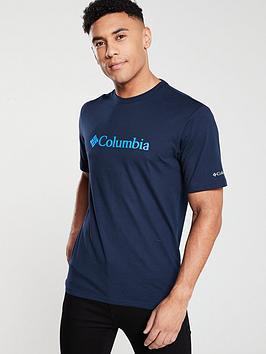 columbia-basic-logo-t-shirt-navy
