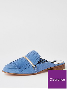 river-island-river-island-leather-fringed-slip-on-loafer--blue