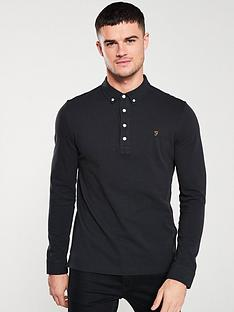 farah-ricky-long-sleeve-polo-shirt-black