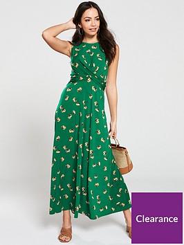 v-by-very-drapednbspsleeveless-midi-dress-green