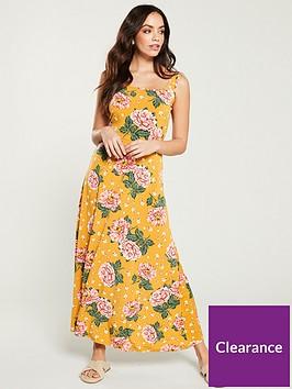 v-by-very-jersey-floral-midi-dress-mustard