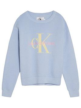 calvin-klein-jeans-girls-monogram-organic-cotton-jumper-blue