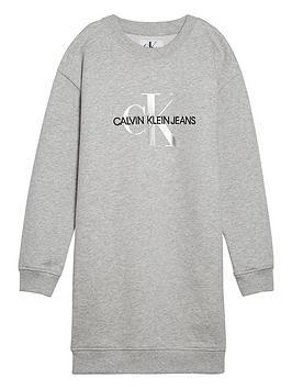 calvin-klein-jeans-girls-monogram-sweat-dress-light-grey