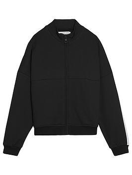 Calvin Klein Jeans Calvin Klein Jeans Girls Side Stripe Zip Jacket - Black Picture