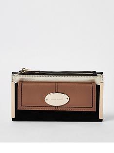 river-island-river-island-oval-branding-foldout-purse--tan