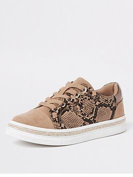 river-island-snake-print-lace-up-trainer