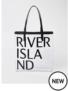 river-island-river-island-transparent-logo-beach-shopper--black