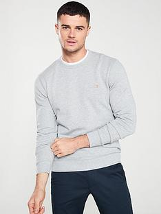 farah-tim-crew-sweatshirt-light-grey-marl