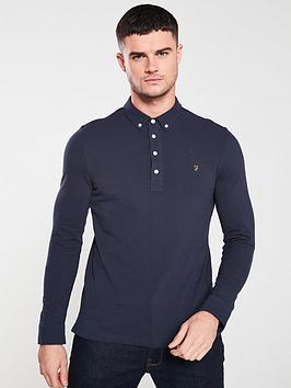 Farah Farah Ricky Long Sleeve Polo Shirt - True Navy Picture