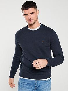 farah-tim-crew-neck-sweatshirt-true-navy-marl
