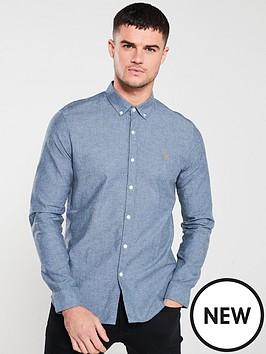 farah-steen-long-sleeved-brewer-shirt-bluebell