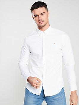 Farah Farah Brewer Long Sleeved Shirt - White Picture