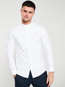 farah-brewer-grandad-shirt-white