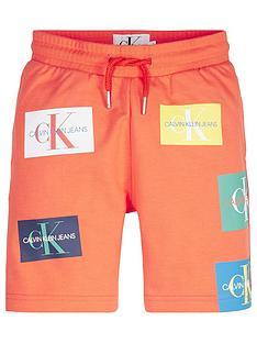 calvin-klein-jeans-boys-monogram-patch-print-shorts-orange