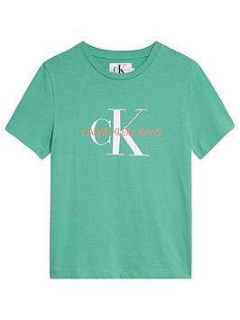 Calvin Klein Jeans Calvin Klein Jeans Boys Monogram Short Sleeve T-Shirt -  ... Picture