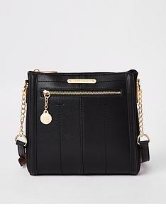 river-island-river-island-zip-front-messenger-bag--black