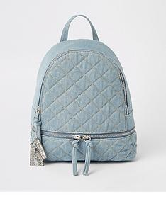 river-island-girls-quilted-backpack-denim