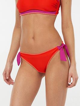 accessorize-lukshana-colour-block-bikini-briefs-red