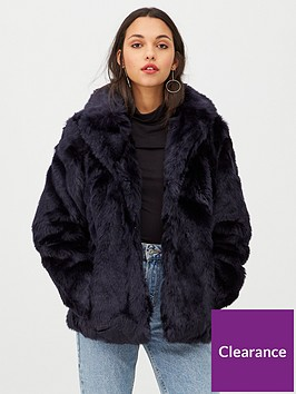 v-by-very-short-faux-fur-coat-navy