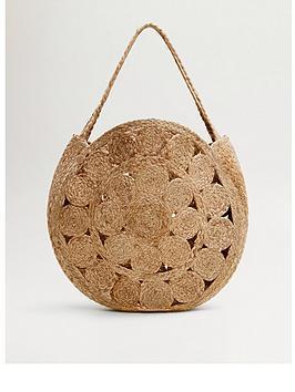 mango-large-cutwork-raffianbspbag-medium-brown