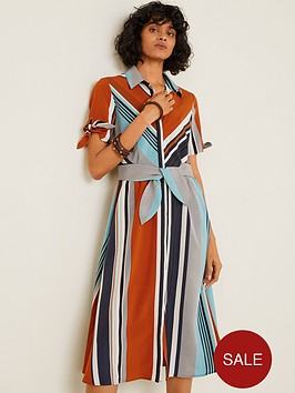 mango-stripe-detail-midi-shirt-dress-blue