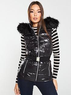 v-by-very-high-shine-giletnbspwith-faux-fur-trim-black