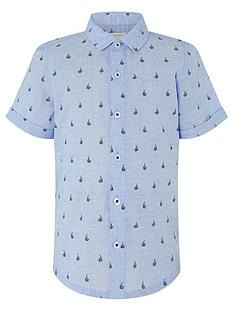 monsoon-boys-morgan-micro-boat-print-shirt-blue