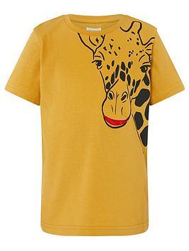 monsoon-boys-digbee-pocket-giraffe-short-sleeve-t-shirt-mustard