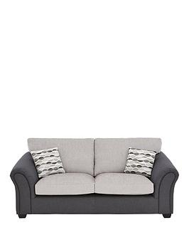Very Quartz Fabric Compact 3 Seater Standard Back Sofa Picture