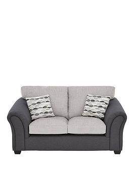 Very Quartz Fabric Compact 2 Seater Standard Back Sofa Picture